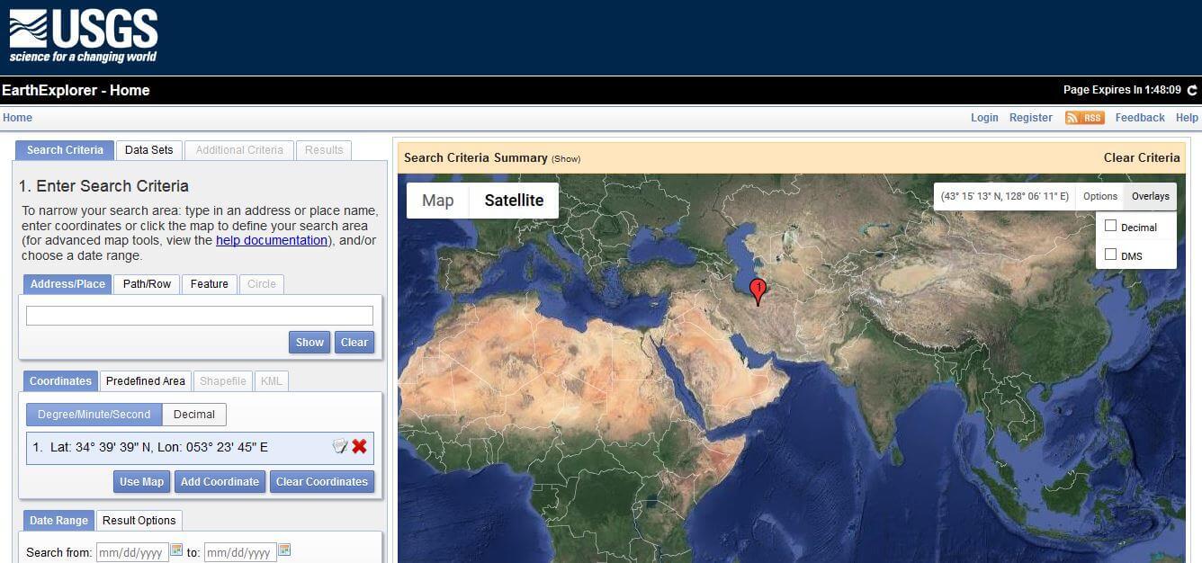 آموزش دانلود مدل رقومی ارتفاعی DEM-30m از سایت سازمان زمین شناسی امریکا(USGS)